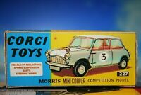 Mini Cooper Morris competition model car vintage Corgi styled Repro Box No. 227