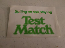 Test Match Cricket  by Peter Pan 1980'S   -  Instructions + advertising leaflet