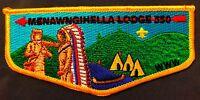 OA MENAWNGIHELLA 550 MOUNTAINEER AREA WV 2013 LODGE CHIEF APPRECIATION FLAP RARE