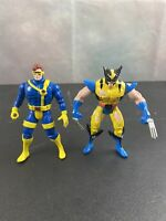 "Vintage Wolverine And  Cyclopse Marvel 1995 5"" Action Figures Toy Biz"