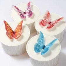 Edible Wafer Butterflies - 12 Pre-Cut Wafer Butterflies - Cake Decorations