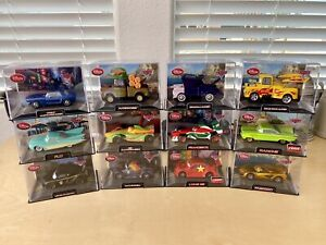 Disney Store/Pixar CARS DieCast In Collector Acrylic Case 1:43 (Lot Of 12) Chase