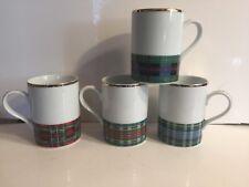 Williams Sonoma Scottish Tartan Mugs - 4 - MINT