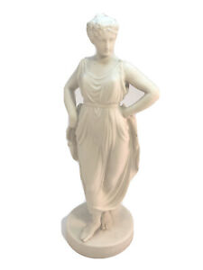 "PARIAN WARE Greek Woman BISQUE 12"" STATUE BUST Antique Gustafsberg Gustavsberg"