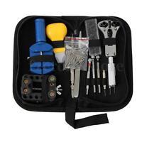 Watch Back Case Remover Opener Spring Pin Watchmaker Jewel Repair Tool Kit Set