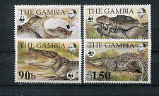Gambia 517/20 postfrisch / WWF - Krokodile ...............................1/1385