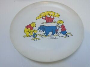 1964 Disney Winnie the Pooh Vintage Child's Dinner Plate plastic melamine