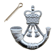 THE RIFLES CAP BADGE BRITISH ARMY MOD NSN ISSUE-NEW-COTTER PIN VERSION