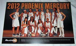 PHOENIX MERCURY 2012 Team Photo POSTER Diana Taurasi Penny Taylor Candice Dupree