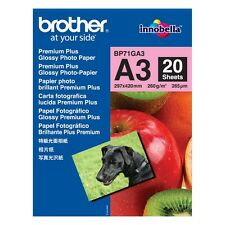 Brother A3 brillant Papier photo 260gsm - 20 Sheets - BP71GA3