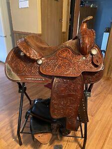 hereford tex tan aqha apha show saddle