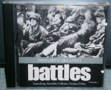 HISTORY'S GREATEST BATTLES  VOLUME 1 CD ROM - EXPERIENCE THE GREAT BATTLES