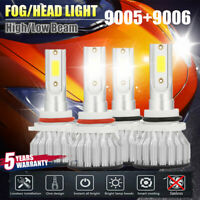4x CREE 9005+9006 LED Headlight Kits Hi/Lo Power 6000K White 2000W 480000LM Bulb