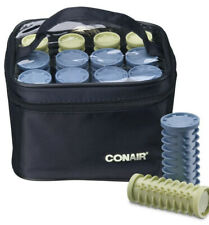 Conair Instant Heat Compact Hot Rollers Black Case with Blue and Green Rollers