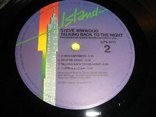 "STEVE WINWOOD ""TALKING BACK TO THE NIGHT"" 1982 ISLAND 9777"
