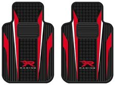 (2) Red & White R Racing Universal-Fit Molded Front Floor Mats New Free Shipping