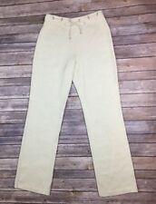 St. John Sport Petite P Beige Wool Santana Knit Stretchy Drawstring Pants XS S