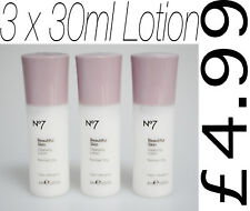 No7 Beautiful Skin Cleansing Lotion, Normal/ Dry Skin, Mini/ Travel Size 3x 30ml