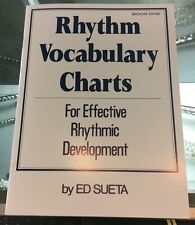 Ed Sueta Rhythm Vocabulary Charts Book 1 Bulk lot of Twenty-Five (25)