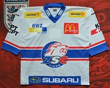 ZSC LIONS OCHSNER JERSEY  SWISS HOCKEY WITH AUTOGRAPHED SIZE XL