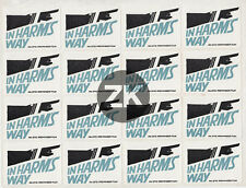 IN HARM'S WAY Preminger PREMIERE VICTOIRE US Navy Marine SAUL BASS Stickers 1965
