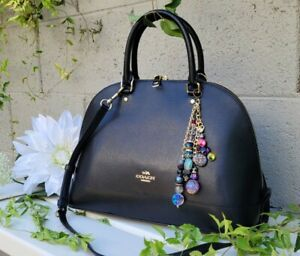 NEW Coach Sierra Satchel black crossgrain Leather 57524 purse crossbody handbag