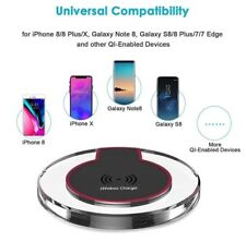 Chargeur rapide sans fil Qi induction iPhone, SAMSUNG GALAXY S20,S10,S8,S9,S6,S7