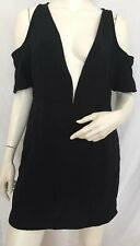 Motel Veratta Cold Shoulder Mini Dress Black Size M