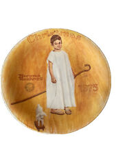 Vintage Christmas 1975 Norman Rockwell Angel With A Black Eye Collector Plate