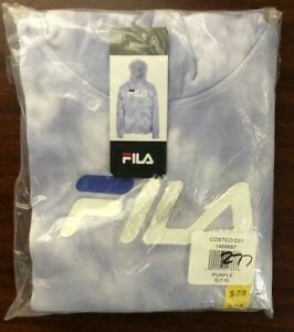 NEW!! Fila Girl's Lavender Logo Hoodie Pullover Size Small #181A