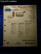 Sony service manual CCD tr620e tr502e tr501e tr740e tr720e tr502e tr503e (#5644)