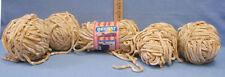 Bernat Velour Nouveau Yarn 5 Balls One With Label Beige Machine Wash & Dry 5 lot