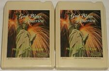 God Bless America 8-Track Tape Set of 3 RCA 1984 Records Readers Digest Tested