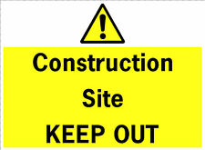 Building Construction Site Safety Sign Keep Out