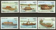LAOS SG559/64 1982 RIVER CRAFTS MNH
