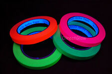 4 Pack Half Inch UV Blacklight Reactive Fluorescent Gaffer Tape 4x 20 Yards