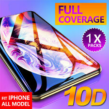10D FULL Tempered Glass Screen Protector for iPhone 6 7 8 Plus X XR XS Max SL