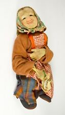 Antique Ravca? Stockinette Doll Peasant Woman Stocking Face France French Cloth