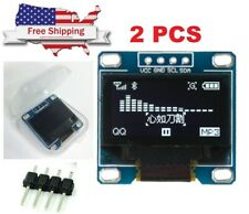 2pcs 0.96 OLED LCD Display I2C IIC 128x64 Arduino ESP STM32 Screen WHITE SSD1306