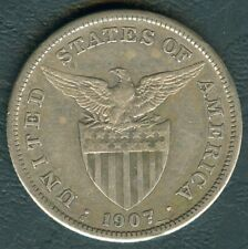 1 Peso 1907-S US-Philippine United States of America Silver Coin KM172 - AA#22