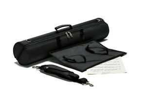 Pro use black barrel shaped hard fabric straight soprano saxophone case