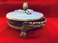 Rodney Kent Hand Wrought Creations Hammered Aluminum Covered Serving Dish Tulip