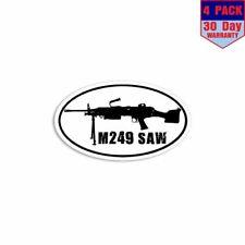 M249 Saw 4 Stickers 3x5 Inch Sticker Decal