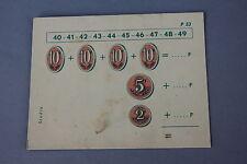 Matériel scolaire Studia carte carton calcul Addition Pièce Francs monnaie P53