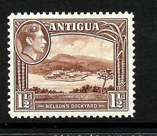 ANTIGUA 1938  1 1/2d   KGVI  PICTORIAL  MH    SG 100