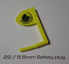 .22 / 5.5mm Breech Plug / Safety flag Range Safety Plastic made