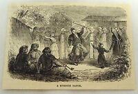 1879 magazine engraving ~ A KURDISH DANCE