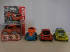 REV 'N GO Stunt Garage Replacement Racecars 3 Cars Blue Green Red + One new