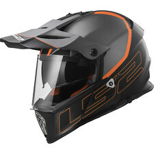 LS2 Helmet Bike Off-road Mx436 Pioneer Element Matt Black Titanium M