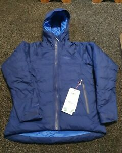 WOMENS RAB VALIANCE JACKET BLUEPRINT/CELESTIAL SIZE 12 BRAND NEW WITH TAGS